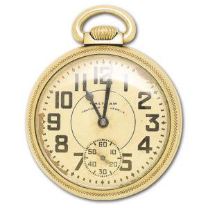 Waltham pocket watch 10k gold fill 50mm Manual watch