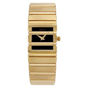 Piaget Polo 81310701 18k Black dial 20mm Quartz watch