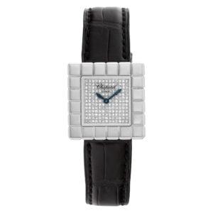 Chopard Ice Cube 127407-1003 18k Silver diamond dial 25mm Quartz watch