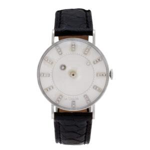 Vacheron Constantin LeCoultre Mystery 727-722-103D 14k White Gold,diamond dial