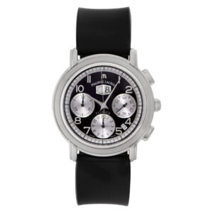 Maurice Lacroix Flyback Chrono mp6098-ss001-12e St/S black dial 40mm. Circa 2000