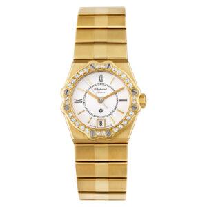 Chopard St. Moritz 5156 18k White dial, diamond bezel 22.5mm Quartz watch