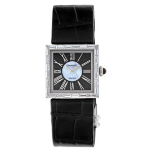 Chanel Mademoiselle xxx 18k White Gold Black & Silver dial 22.5mm Quartz watch