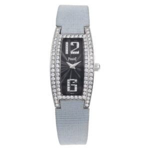Piaget Limelight GOA27063 18k White Gold Black dial 18mm Quartz watch