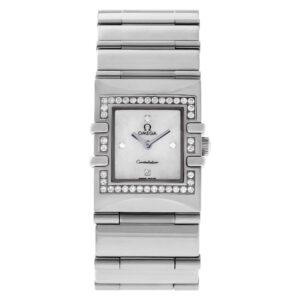 Omega Constellation 1528.76.00 Steel, MOP dial, Diamond case 19mm Quartz