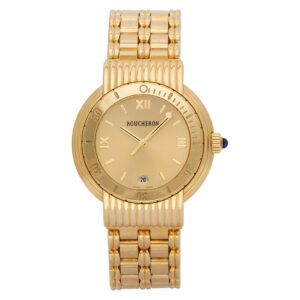 Boucheron Solis Reflet af110139 18k yellow Gold dial 37mm Quartz watch