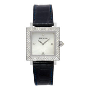 Boucheron Pyramid Classic AJ410364 18k WG with Mother of Pearl dial 30mm