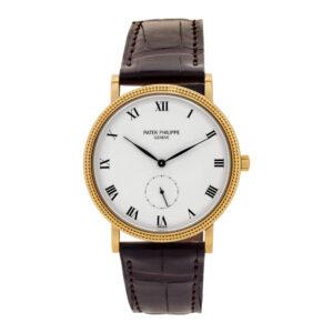 Patek Philippe Calatrava 3919 18k White dial 33mm Manual watch