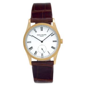 Patek Philippe Calatrava 3796 18k Yellow Gold White dial 30mm Manual watch