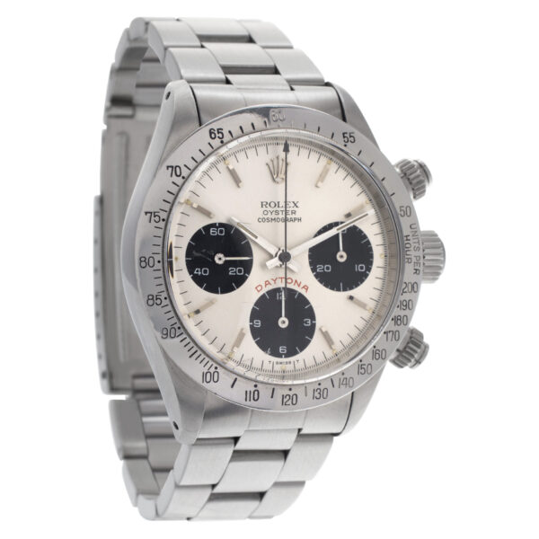 """Rolex Daytona """"Big Red"""" 6265 Stainless Steel Silver dial 37mm Automatic watch"""