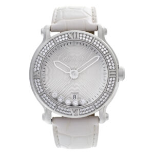 Chopard Happy Sport 288525-3003 Stainless Steel Silver Guilloche dial 40mm Quart
