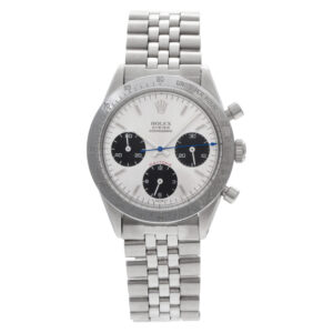 """Rolex Cosmograph """"Daytona"""" in Red 6239 Stainless Steel Circa 1965"""
