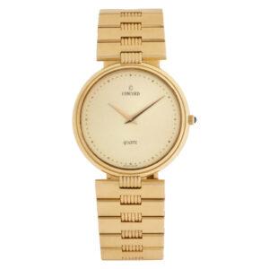 Concord 2081215 14k Champagne dial 34mm Quartz watch