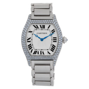 Cartier Tortue 2497 18k White Gold White dial 34mm Manual watch