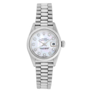 Rolex Datejust 69166 Platinum Mother of Pearl dial 26mm Automatic watch