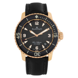 Blancpain Fifty Fathoms 5015.3630.52 18k rose gold Black dial 45mm Automatic wat