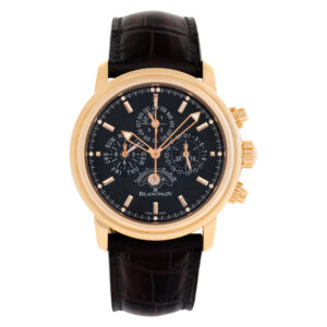 Blancpain Leman Perpetual 2685F-3630-53B 18k rose gold 40mm auto watch
