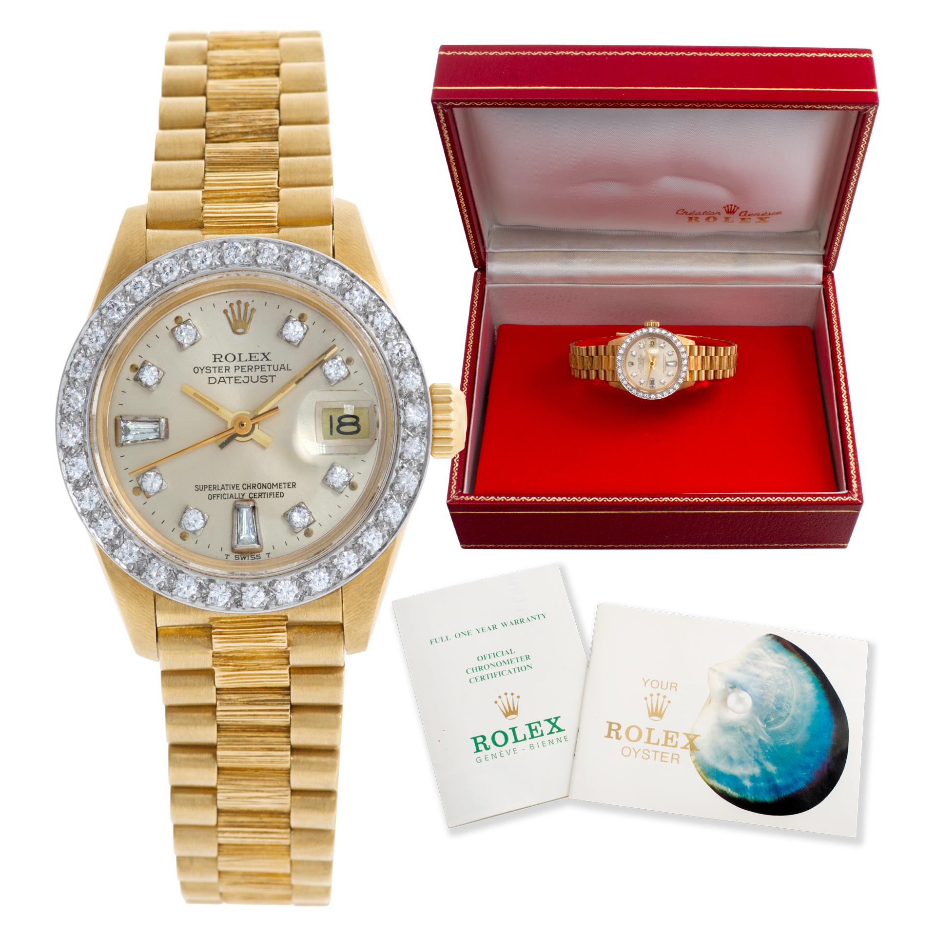 Rolex Datejust 6927 18k 26mm auto watch