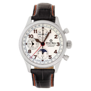 Ernst Benz Chronolunar 20300 stainless steel 40mm atmospheric watch