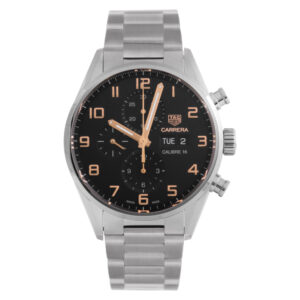 Tag Heuer Carrera CV2A1AB.BA0738 Stainless Steel Black dial 43mm Automatic watch