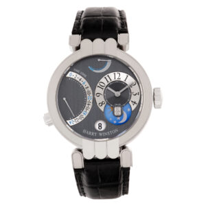 Harry Winston Excenter Timezone 200.mmtz39w 18k white gold 39mm Manual watch