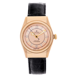 Rolex Bubble Back 18k rose gold 30mm auto watch
