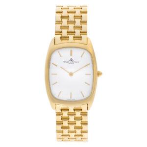 Baume & Mercier Classic MVO45096 18k Silver dial 27.5mm Quartz watch