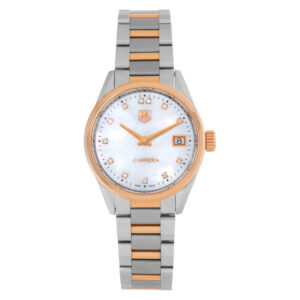 Tag Heuer Carrera WAR1352.BD0779 18k rose gold & stainless steel Mother of Pearl