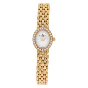 Baume & Mercier Geneve MX000M1J 14k Off White dial 14.5mm Quartz watch