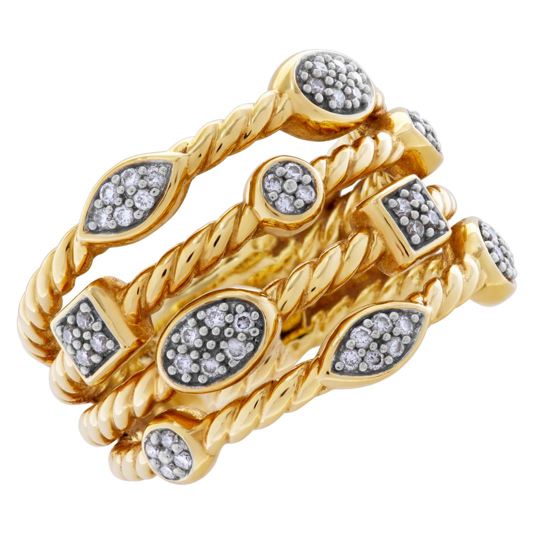 David Yurman Confetti ring in 18k with diamonds