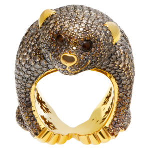 "Masterpiece Chopard Diamond bear ""Animal World Collection"" 18K Ring"