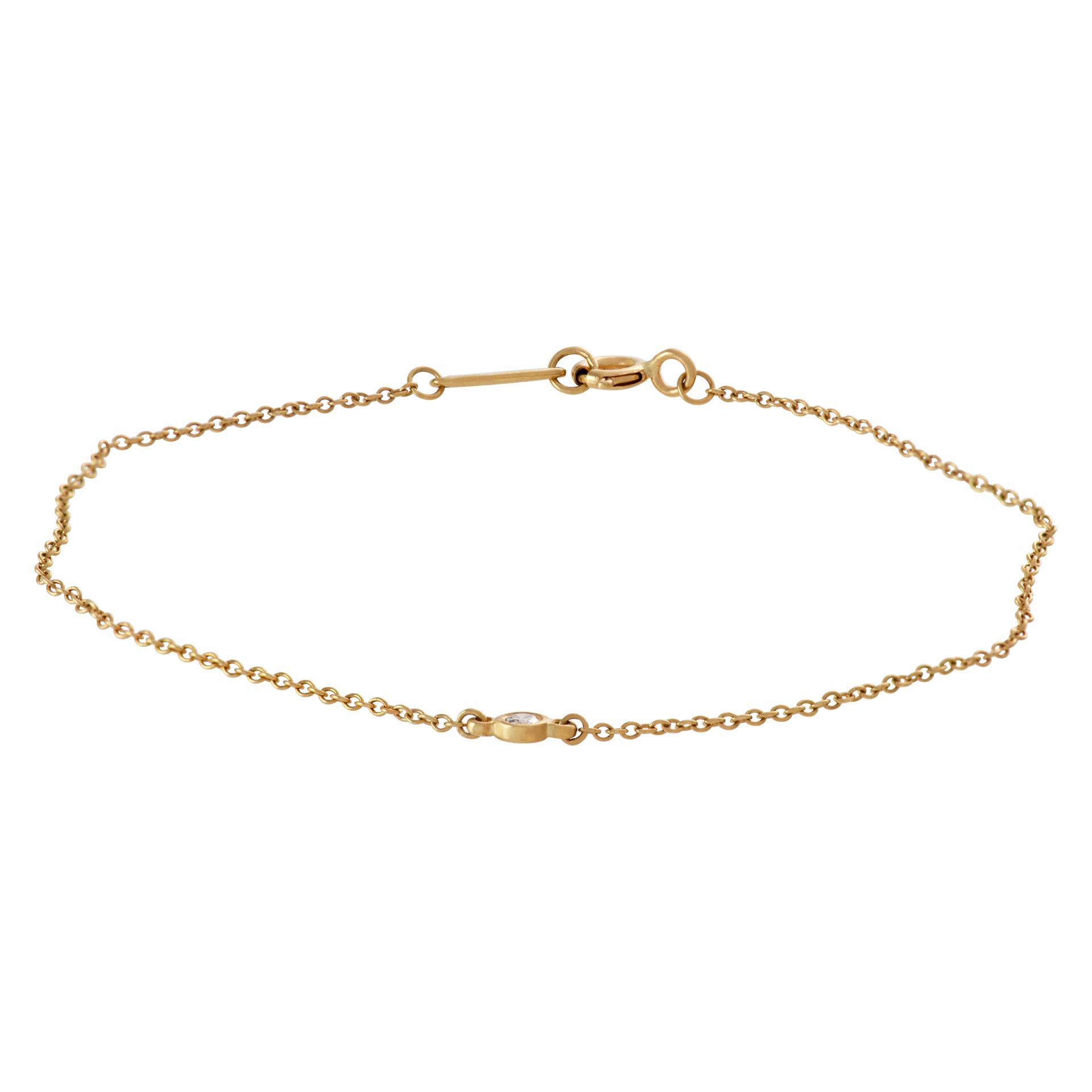 Tiffany & Co. 'Elsa Peretti' Diamond by the yard bracelet in 18k yellow gold