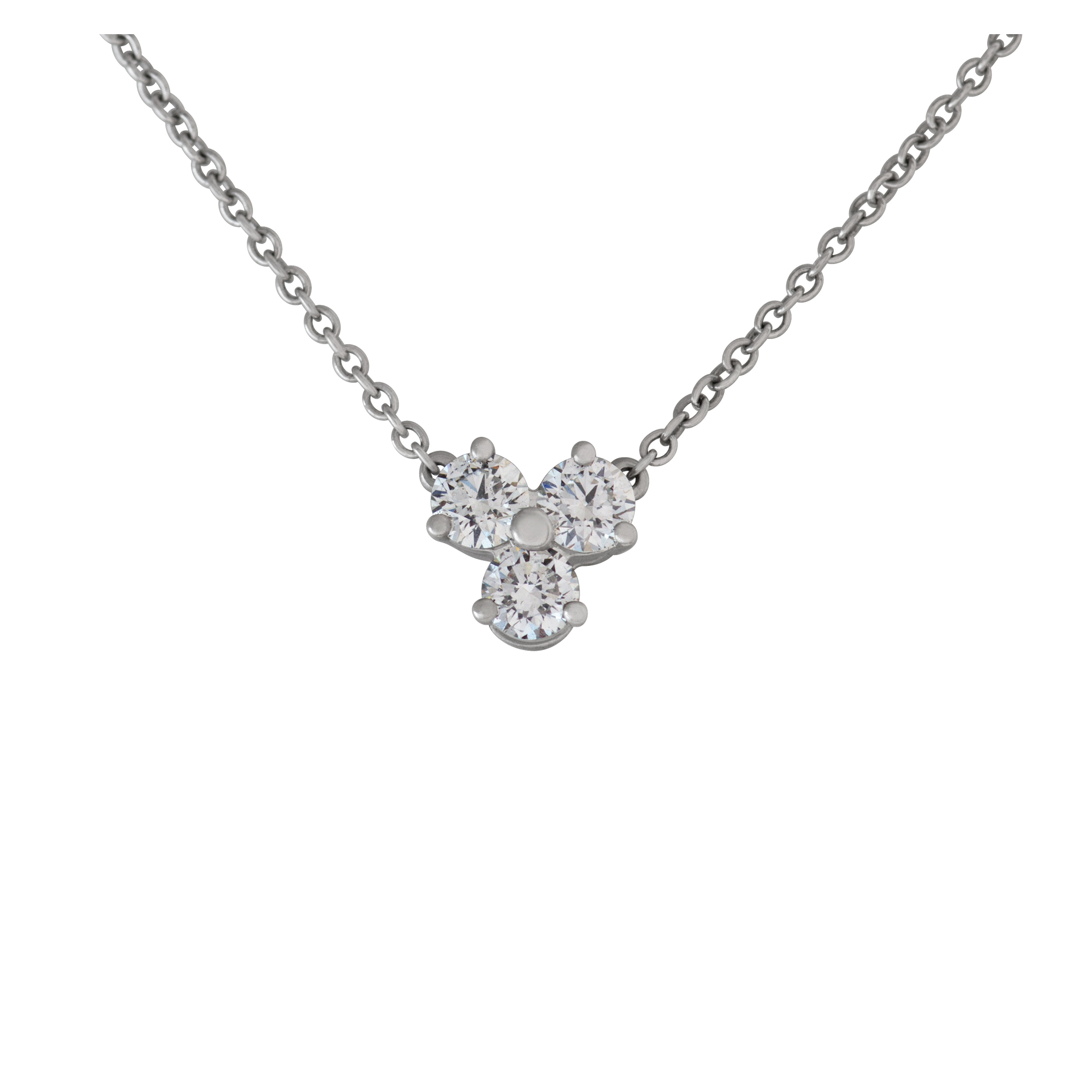 Tiffany & Co. Aria necklace in platinum with diamonds