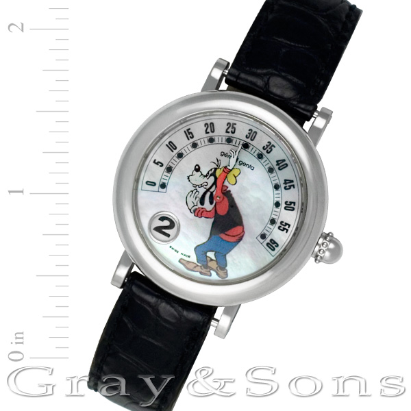 Gerald Genta Jump Hour g.3612 stainless steel 33mm auto watch