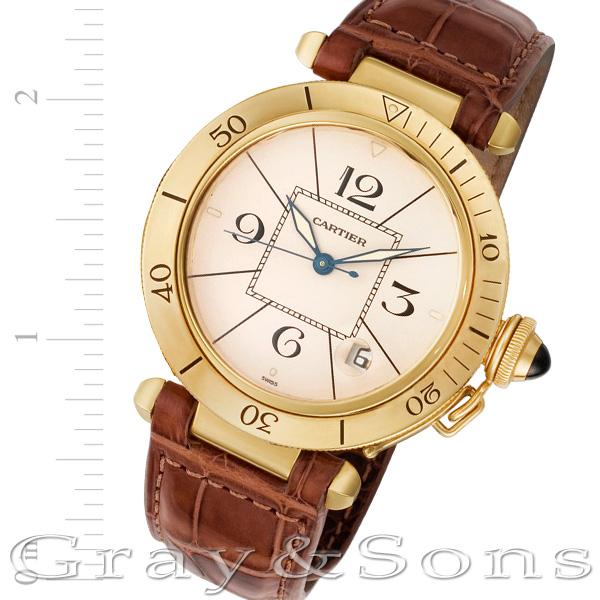 Cartier Pasha 1991 18k 38mm auto watch