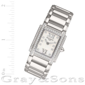 Patek Philippe Twenty 4 4908/200G 18k white gold 22mm Quartz watch