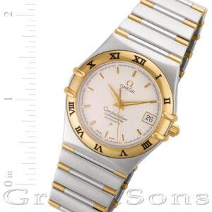 Omega Constellation 1202.30.00 18k & steel 35mm auto watch