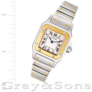 Cartier Santos W20012C4 18k & steel 23.5mm Quartz watch