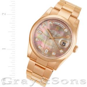 Rolex Day-Date 118205 18k rose gold 36mm auto watch