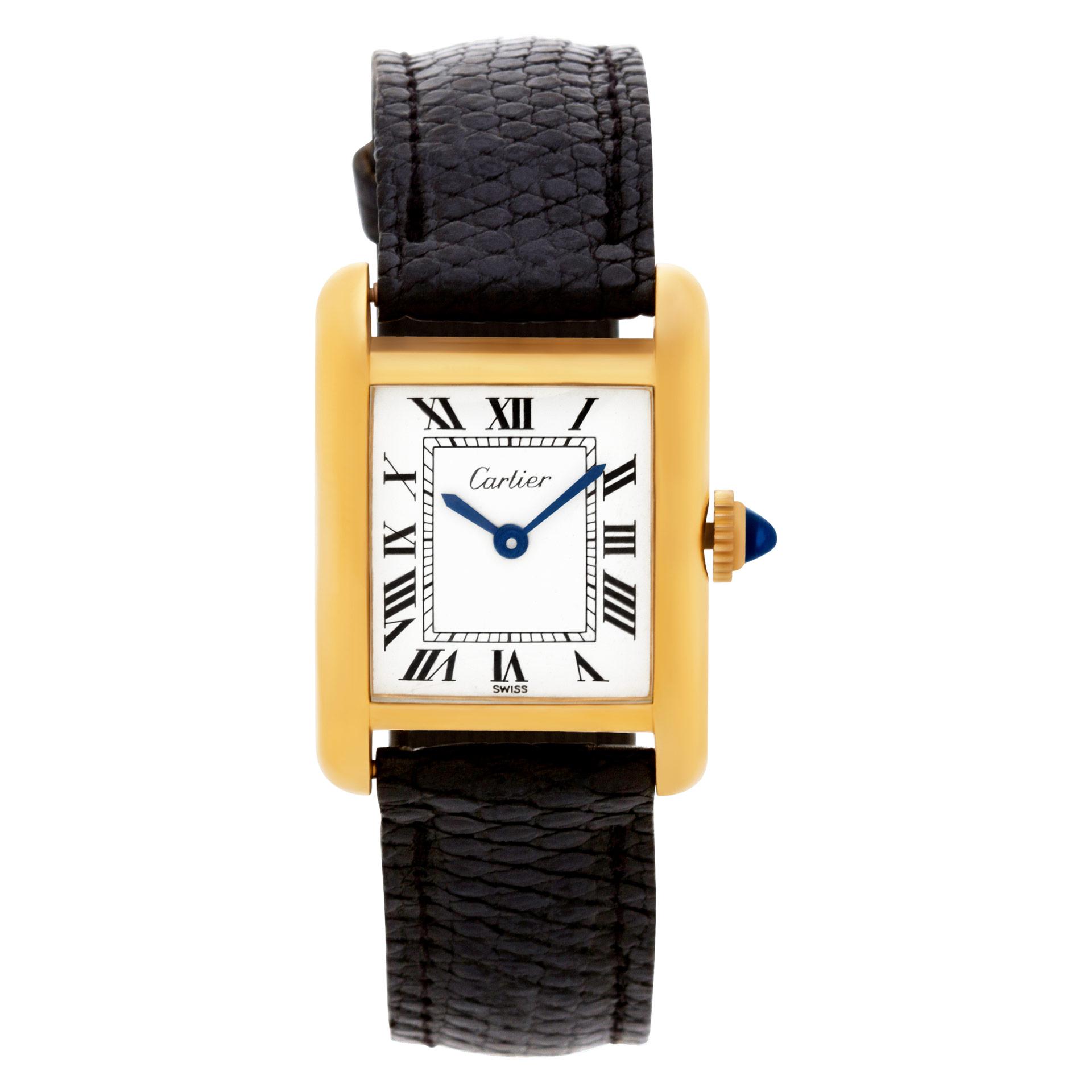 Cartier Tank gold fill 20mm Quartz watch