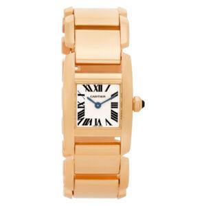 Cartier Tankissime W650018H 18k rose gold 20mm Quartz watch