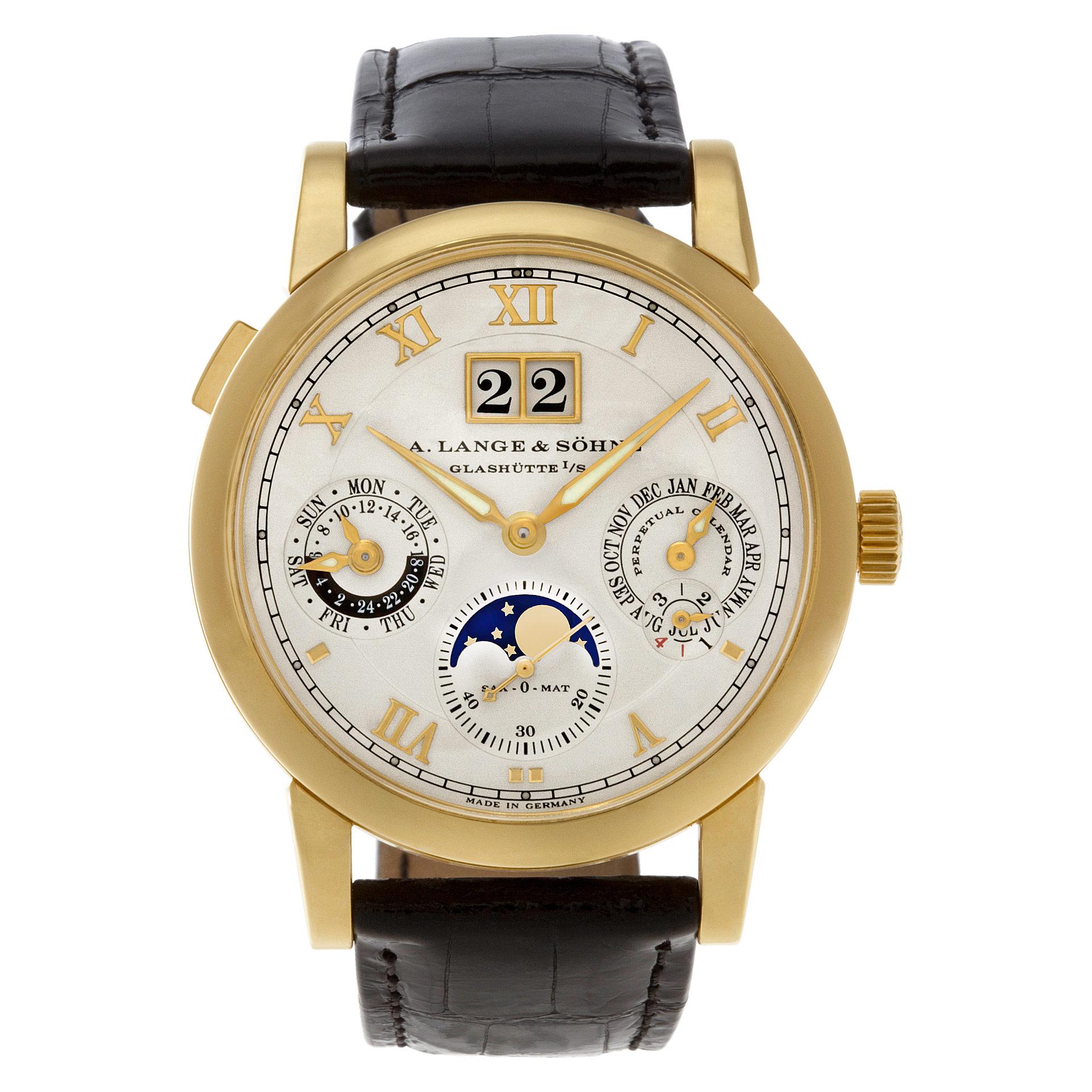 A. Lange & Sohne Langematik 310.032 18k Yellow Gold Perpetual Calendar Moonphase