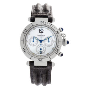 Cartier Pasha Chronograph W31030H3 Stainless Steel White dial 38mm Automatic wat