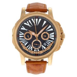 Gio Monaco Hypnos 18k rose gold 45mm auto watch